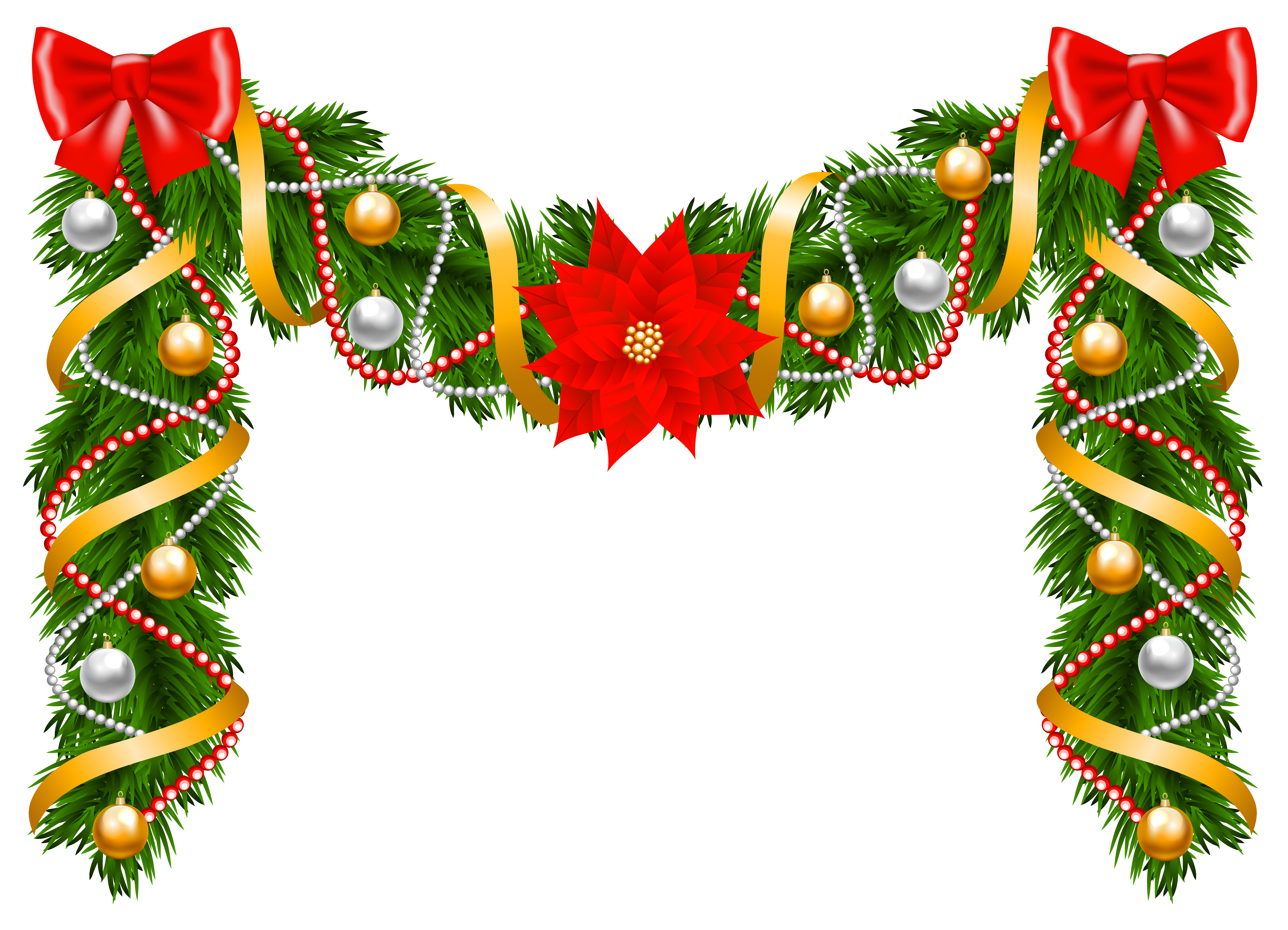Christmas garland clipart free royalty free download Christmas Deco Garland PNG Clipart Image | Gallery Yopriceville ... royalty free download