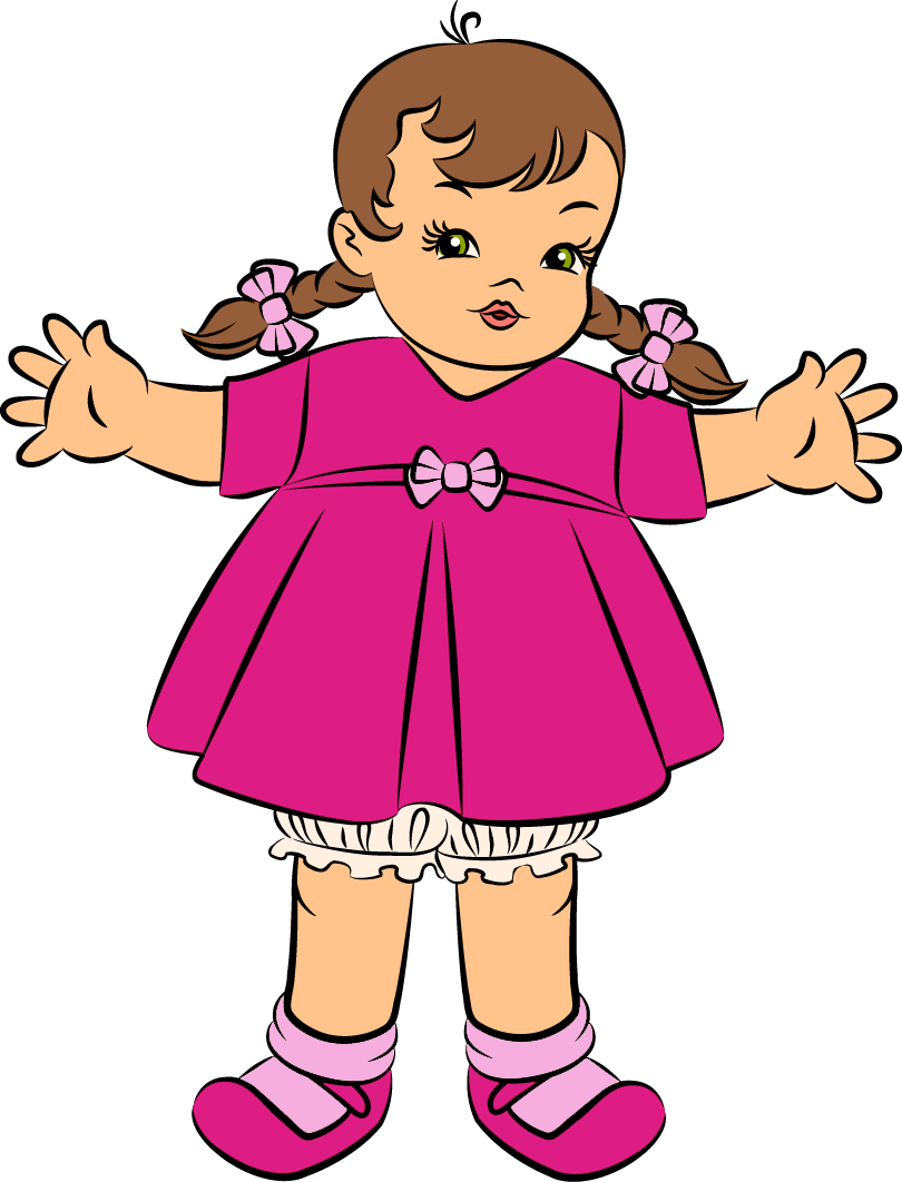 Free clipart images to download jpg black and white Download Pink Doll Clipart   Clipart Panda - Free Clipart Images jpg black and white
