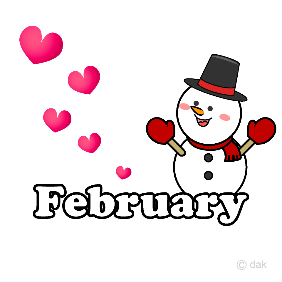 Free clipart images for february picture black and white Snowman Heart February Clipart Free Picture|Illustoon picture black and white