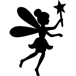 Free clipart images for silhouette cameo jpg black and white stock Fairy Silhouette FREE SVG   SVG files   Fairy silhouette, Fairy ... jpg black and white stock