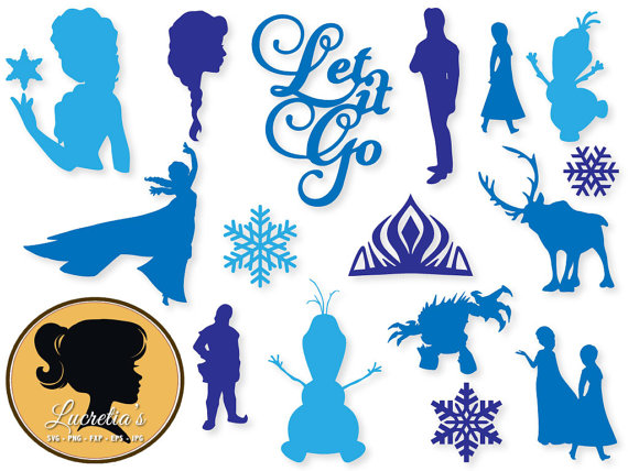 Free clipart images for silhouette cameo png royalty free stock Frozen Dxf Frozen Clipart SVG Files For Silhouette Cameo Or - Free ... png royalty free stock