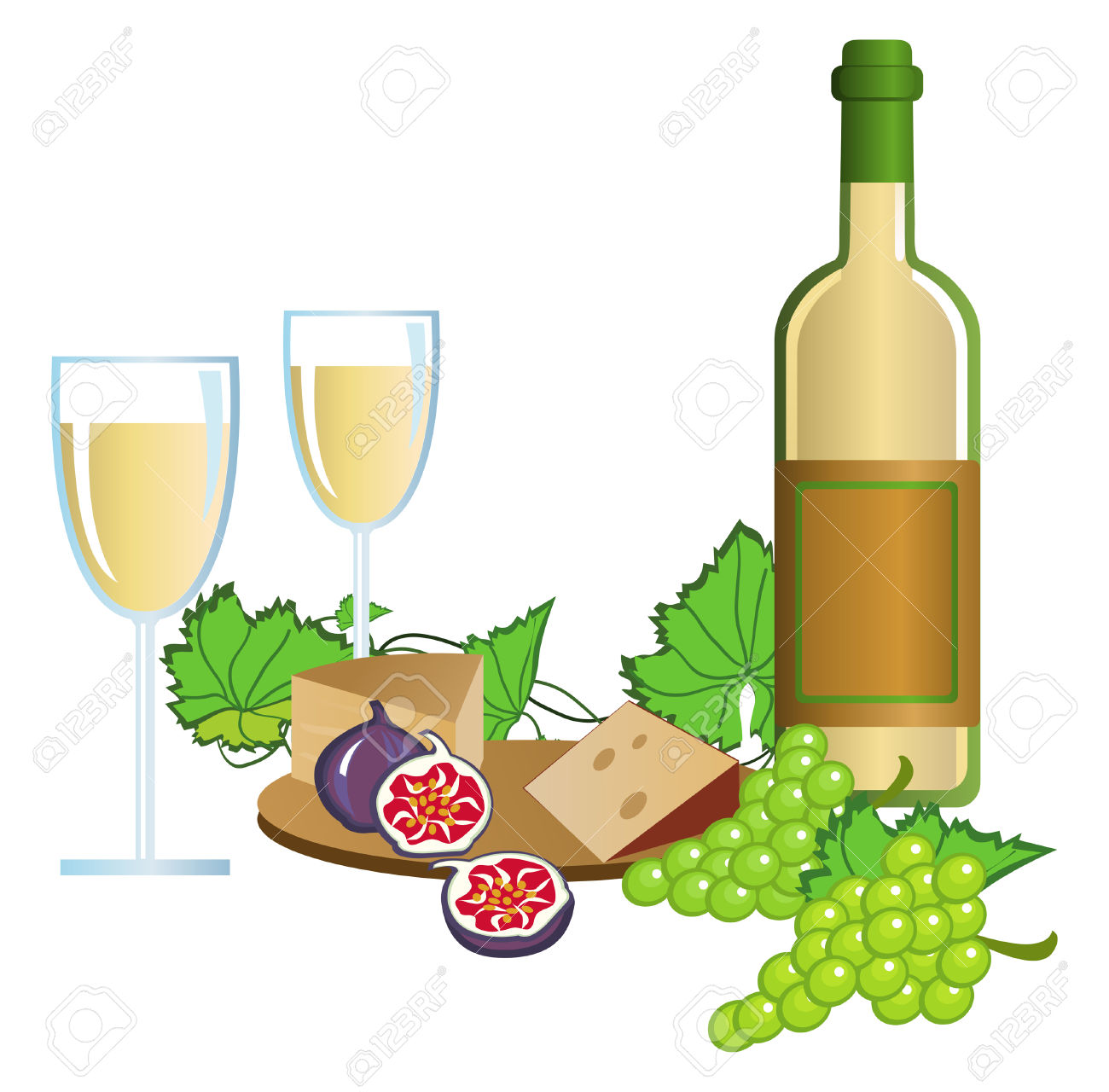 Free clipart images for wine and pasta graphic library stock Italian Wine Clipart - Free Clipart graphic library stock