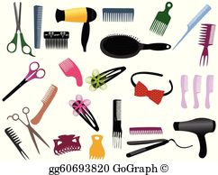 Hairdressing clipart pictures banner free library Hairdresser Clip Art - Royalty Free - GoGraph banner free library