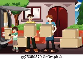 Free clipart images moving house image freeuse stock Moving House Clip Art - Royalty Free - GoGraph image freeuse stock