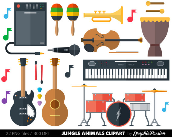 Free clipart images musical instruments. Instrument panda