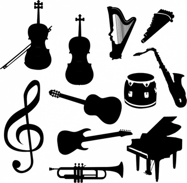 Free clipart images musical instruments. Instrument clip art vector