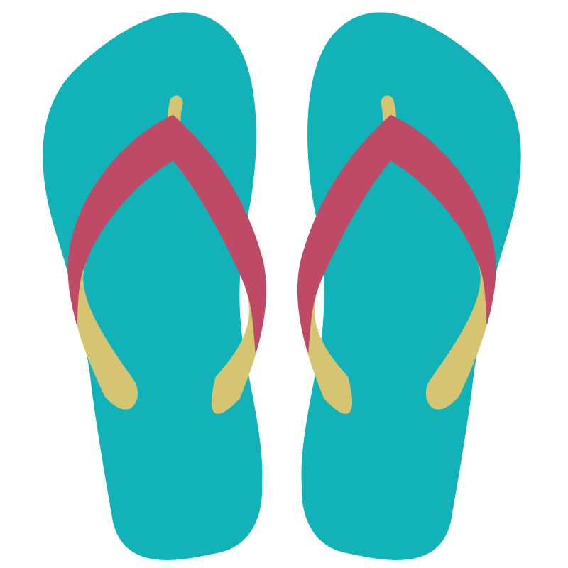 Free clipart images of flip flops vector freeuse Free Clipart: Flipflops 07 | SOlvera vector freeuse