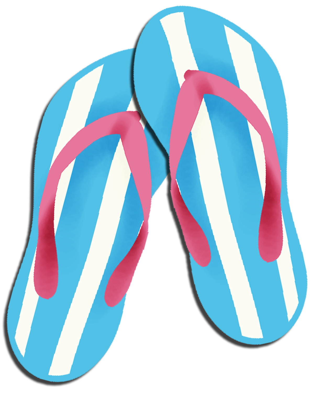 Free clipart images of flip flops svg black and white stock Best Flip Flop Clipart #3385 - Clipartion.com svg black and white stock