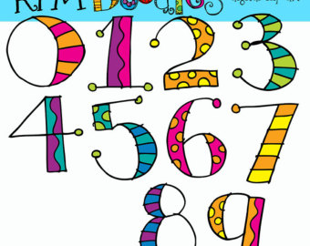 clip art clipartlook. Free clipart images of numbers