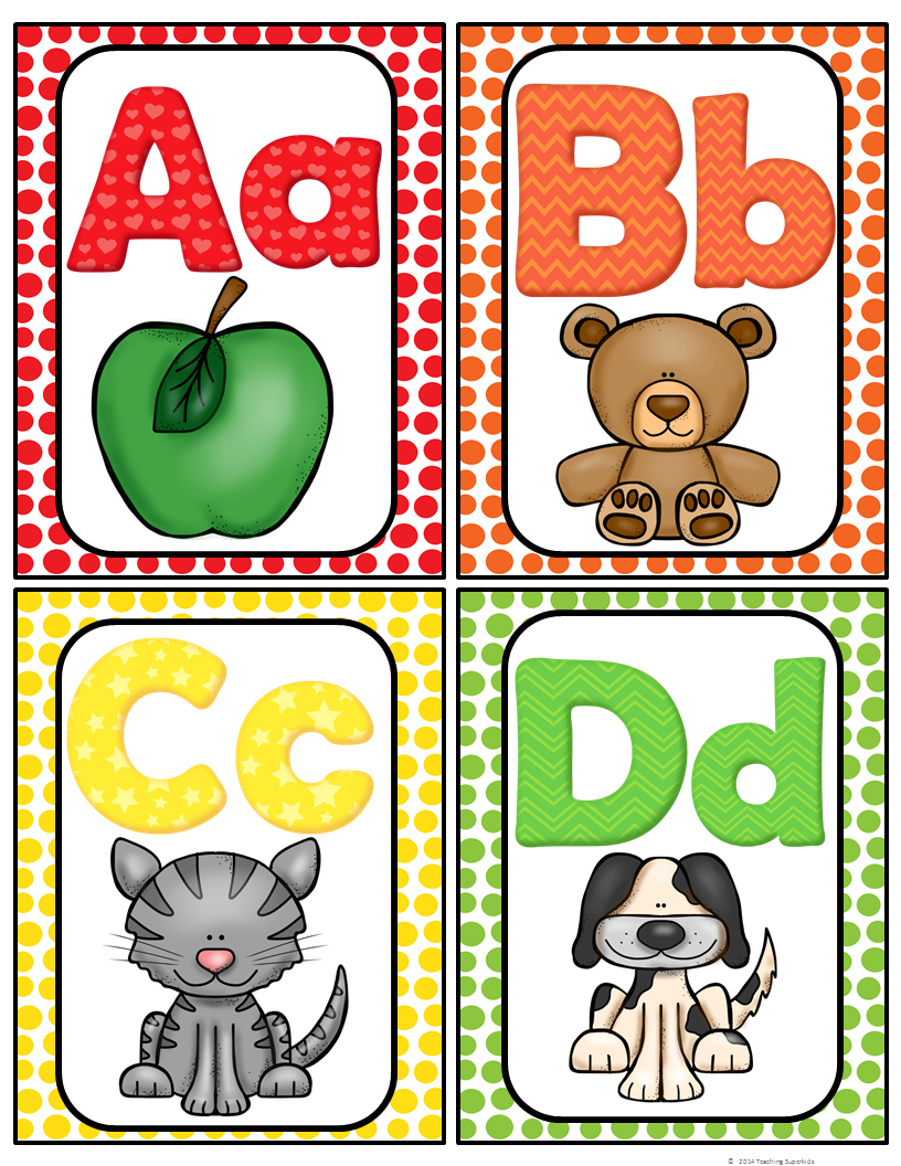 Free clipart images of prek letter wall image Alphabet Word Wall Cards & ABC Chart | Best of Kindergarten ... image