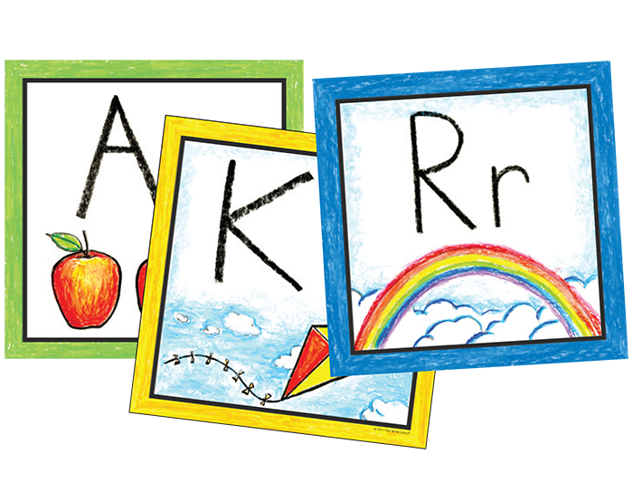 Free clipart images of prek letter wall vector royalty free library Pre-K Color Wall Cards | Learning Without Tears vector royalty free library