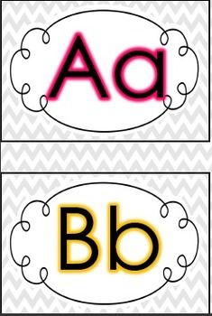 Free clipart images of prek letter wall clip art freeuse Chevron Word Wall Letters - FREE | Word Wall | Preschool word walls ... clip art freeuse