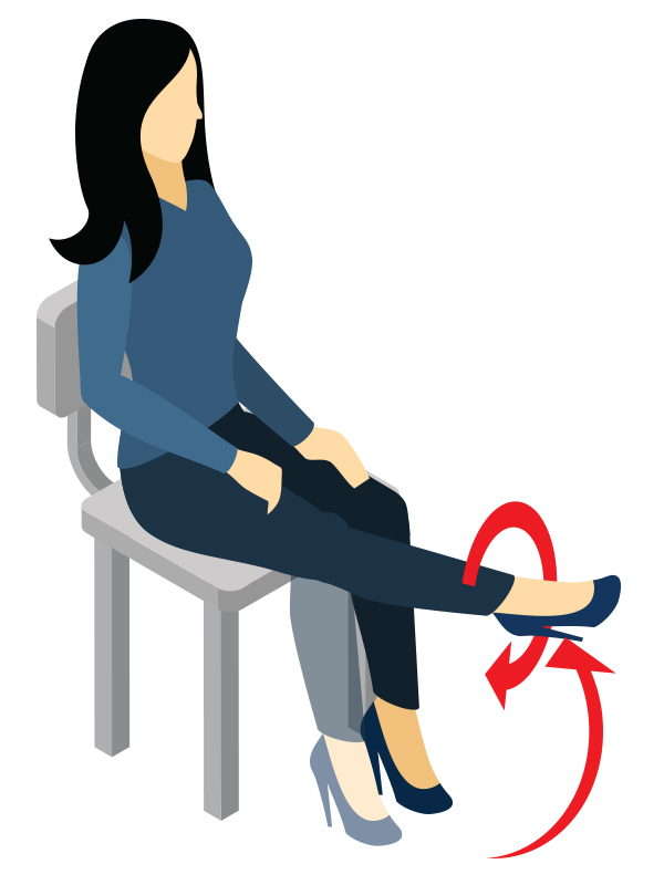 Free clipart images of women sitting tense svg black and white library Don\'t Sit Still - Exercise at Your Desk | MyHealthKC | MyHealthKC svg black and white library