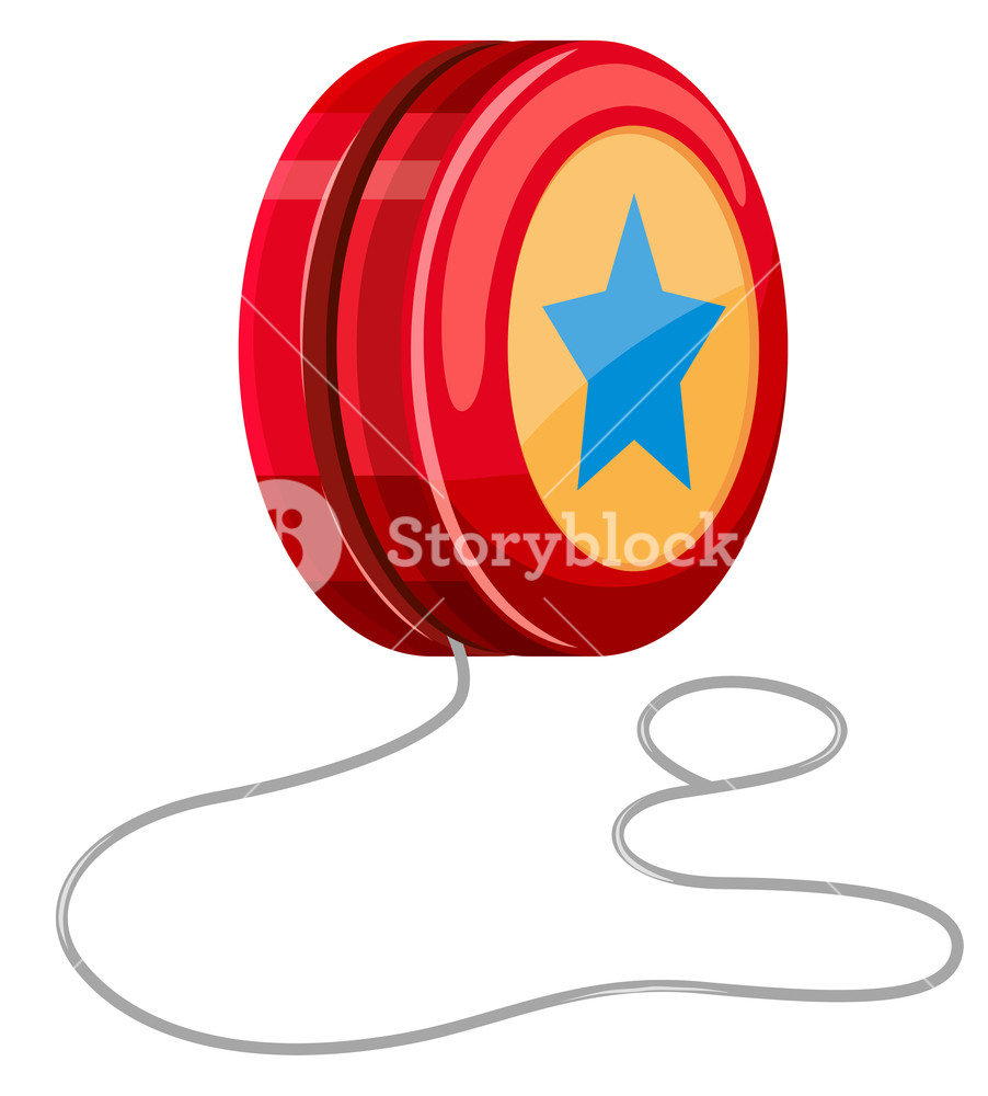 Free clipart images single hanging star from a string vector library stock Red yo-yo with white string Royalty-Free Stock Image - Storyblocks ... vector library stock