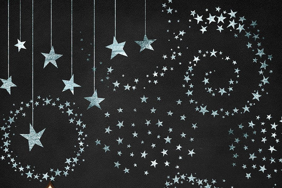 Free clipart images single hanging star from a string jpg freeuse download Silver Stars Clipart jpg freeuse download
