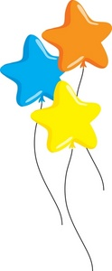 Free clipart images stars on a string clip art black and white Free Balloon Clip Art Image - clip art illustration of colorful ... clip art black and white