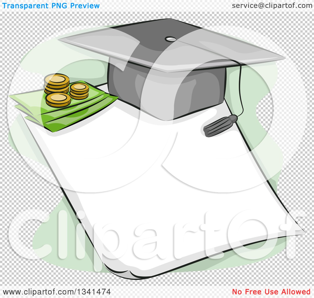 Free clipart images student loan clip art transparent Clipart of a Sketched Student Loan Design with a Graduation Cap ... clip art transparent