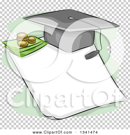 Free clipart images student loan freeuse library Clipart of a Sketched Student Loan Design with a Graduation Cap ... freeuse library