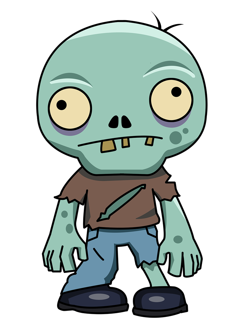 Zombie animated clipart