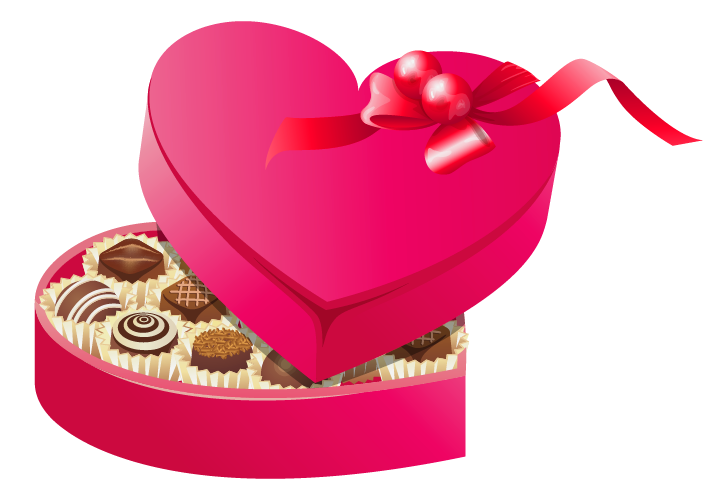 Heart chocolate clipart free library Valentines Chocolates PNG Clipart | Gallery Yopriceville - High ... free library