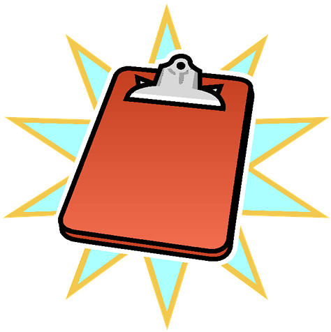 Free clipart important notice. Photo writing clipboard max