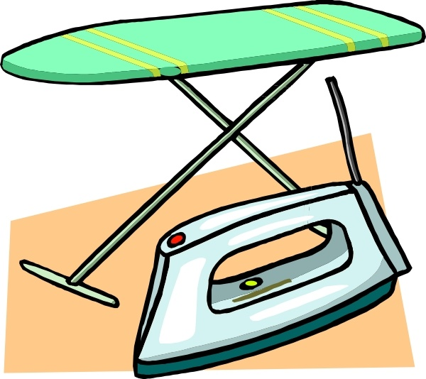 Free clipart iron. Ironing board and clip