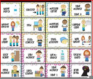Free clipart jobs image black and white download Free Classroom Job Chart Clipart | Free Images at Clker.com - vector ... image black and white download