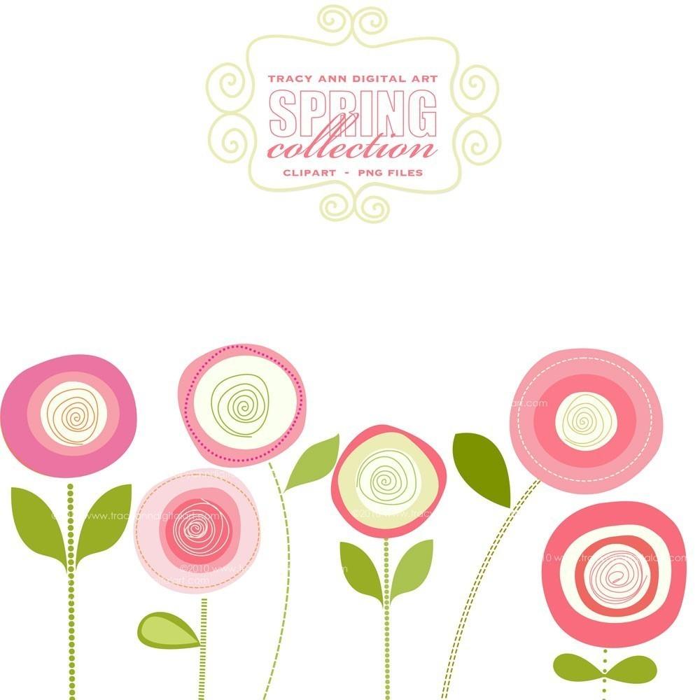 Pink flower border clip. Free clipart jpg files