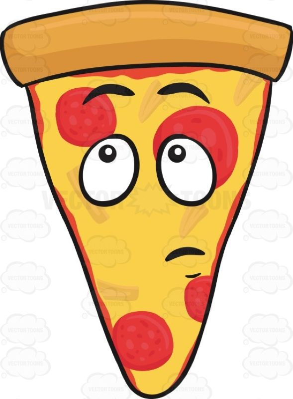Slice pepperoni pizza with. Free clipart kids funny slices of cheese