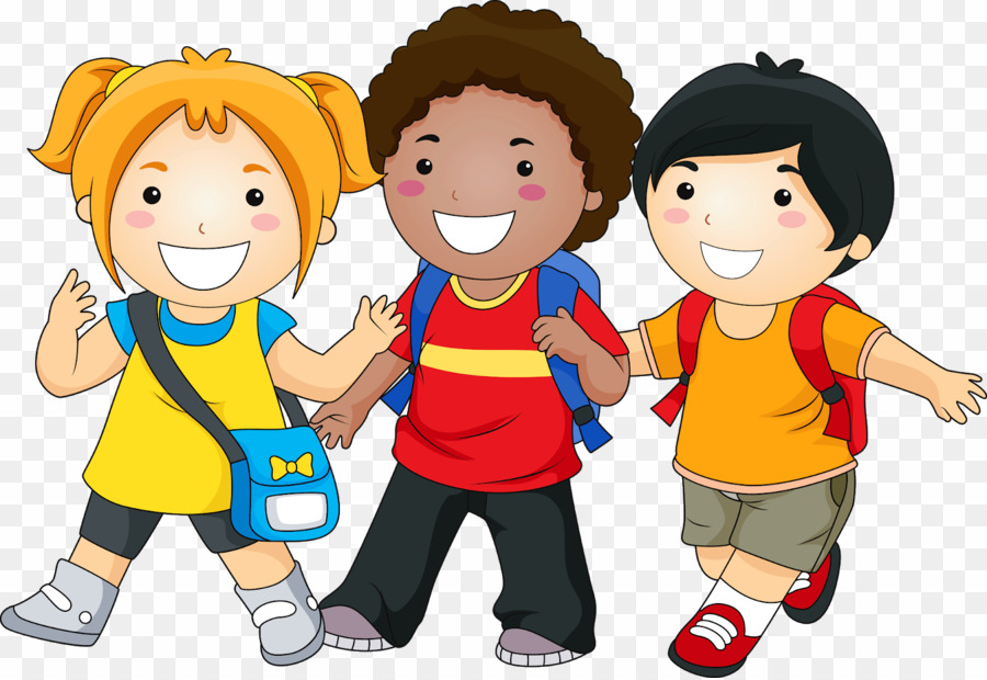 Free clipart kids going to new school banner black and white stock Kids Going To School PNG School Child Clipart download - 1600 * 1099 ... banner black and white stock