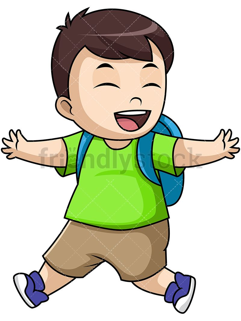 Free clipart kids happy to go back to school banner free download Happy Little Boy Student Going To School | Kids Clipart | Kids ... banner free download