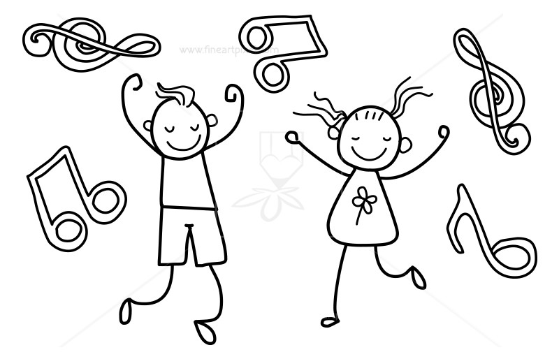 Free clipart kids musicblack and white banner library stock Music kids stock illustration | Free vectors, illustrations, graphics ... banner library stock