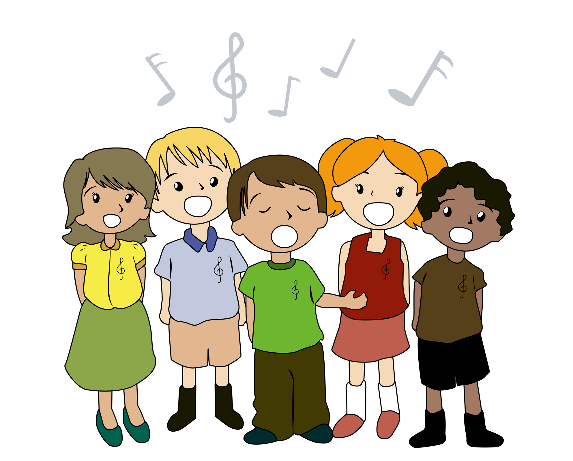 Free clipart kids singing graphic transparent library Best Children Singing Clipart #19590 - Clipartion.com graphic transparent library