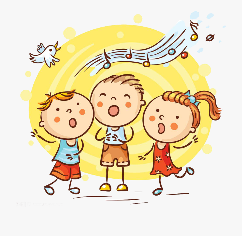 Free clipart kids singing clipart royalty free download Singing Cartoon Song Illustration Children S Material - Children ... clipart royalty free download