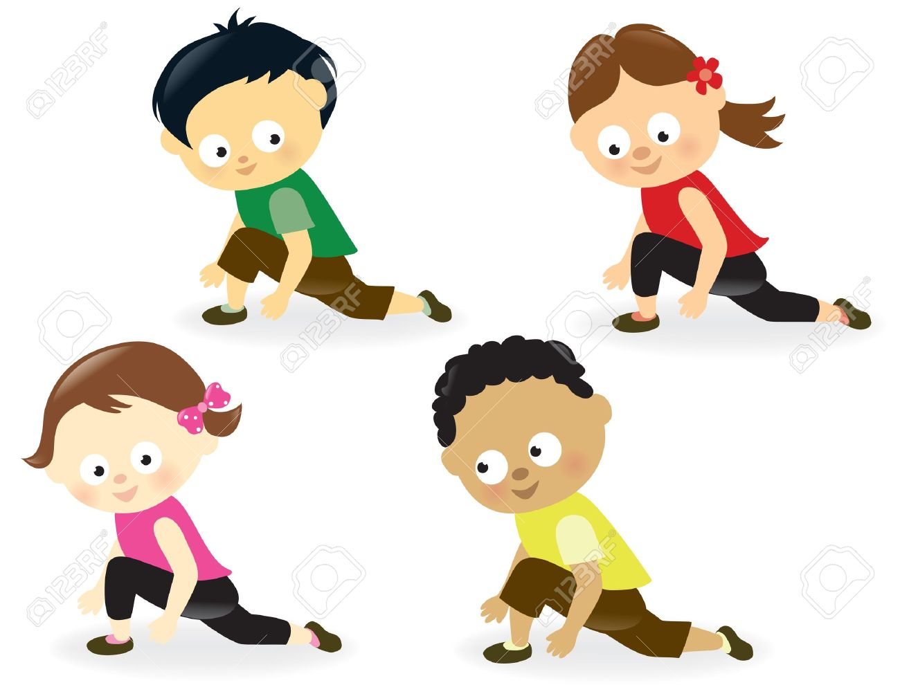 Workout kids clipart picture transparent Kids Exercise Clipart | Free download best Kids Exercise Clipart on ... picture transparent