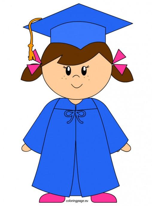 Free clipart kindergarten graduation clip art freeuse stock Kindergarten Graduation Girl Clip Art free image clip art freeuse stock