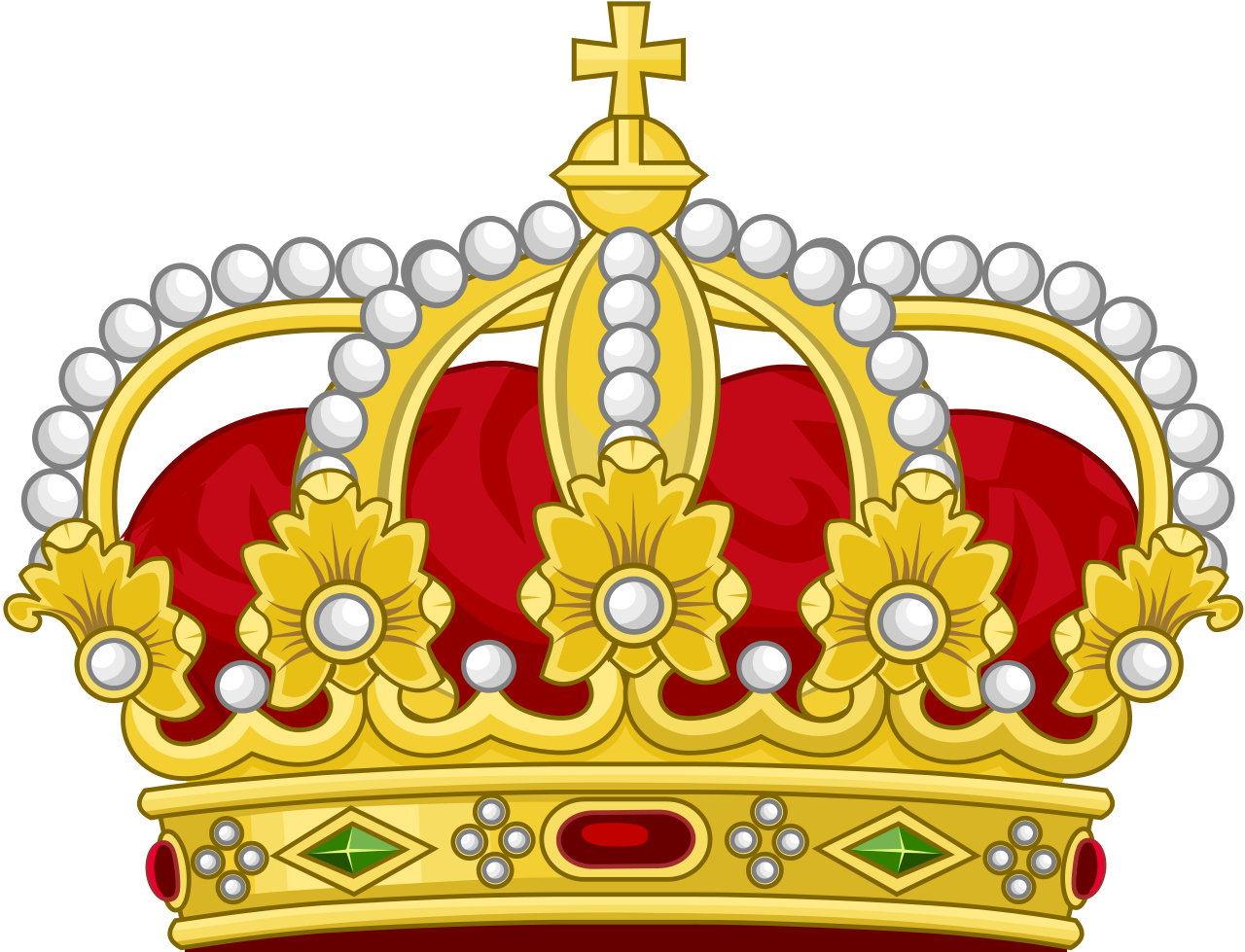 Free clipart king crown picture black and white download File:Heraldic Royal Crown of the King of the Romans (18th Century ... picture black and white download
