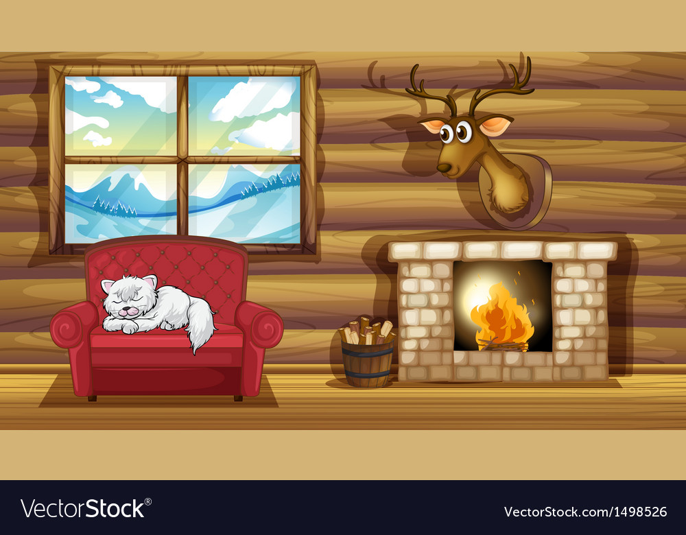 Free clipart kitten sleeping in front of fireplace clip art library A cat sleeping above the chair near the fireplace clip art library