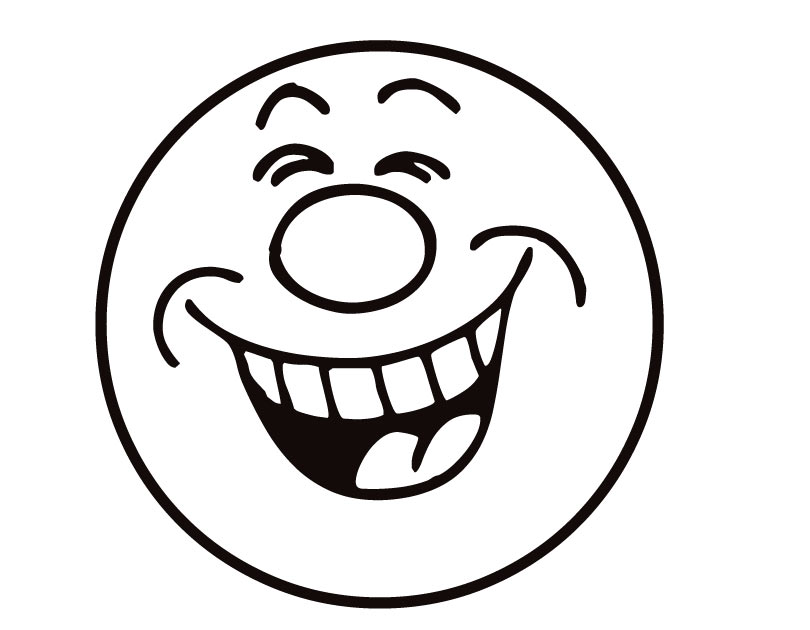 Free clipart laughing face image black and white stock Laughing Emoji Clipart - Clipart Kid image black and white stock