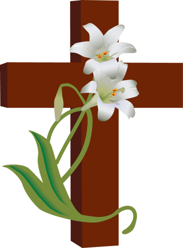 Free clipart lcms christian cross with blue orange flowers download Easter Christian Images | Free download best Easter Christian Images ... download