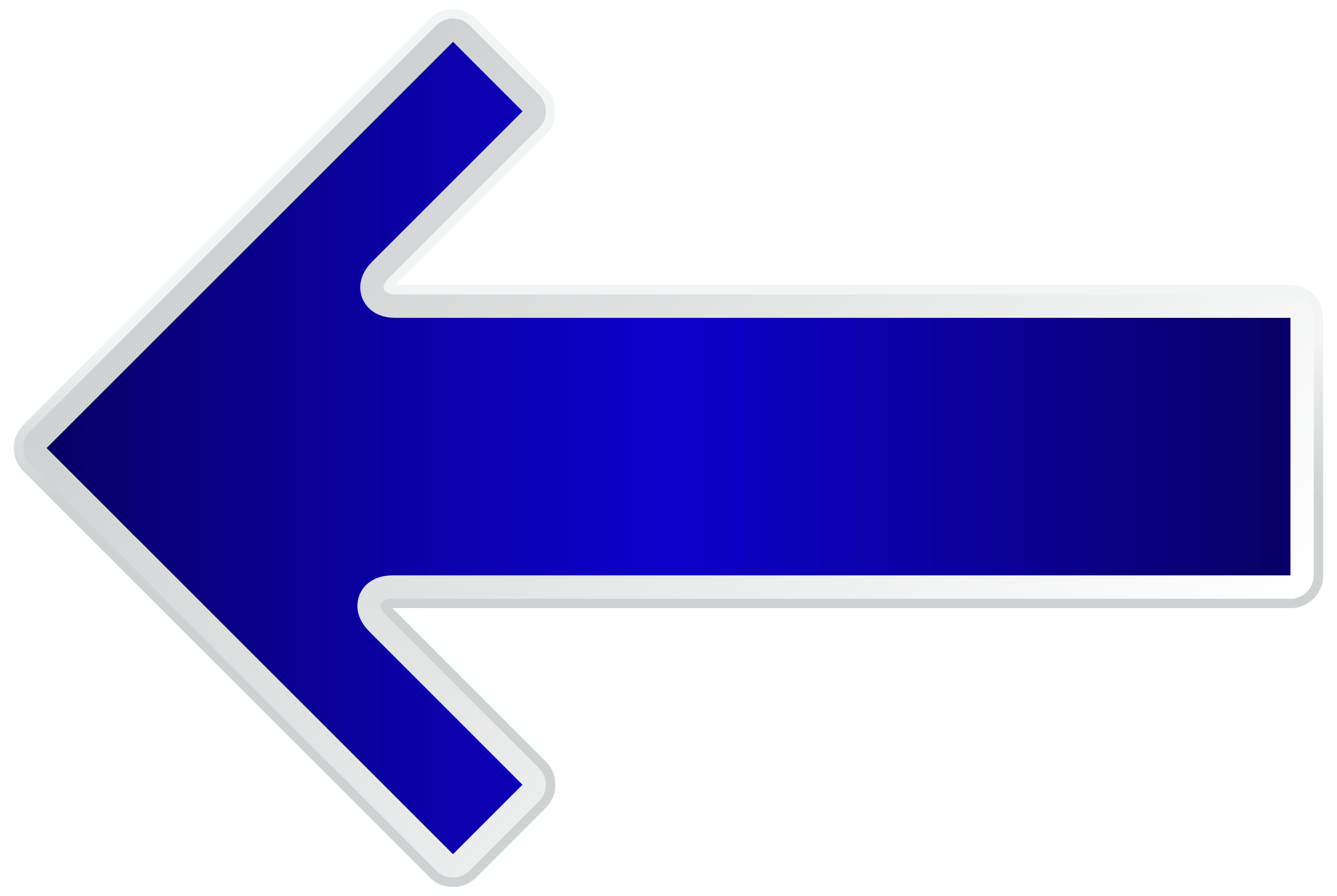 Free clipart left arrow vector library library Arrow Blue Left Transparent PNG Clip Art Image vector library library