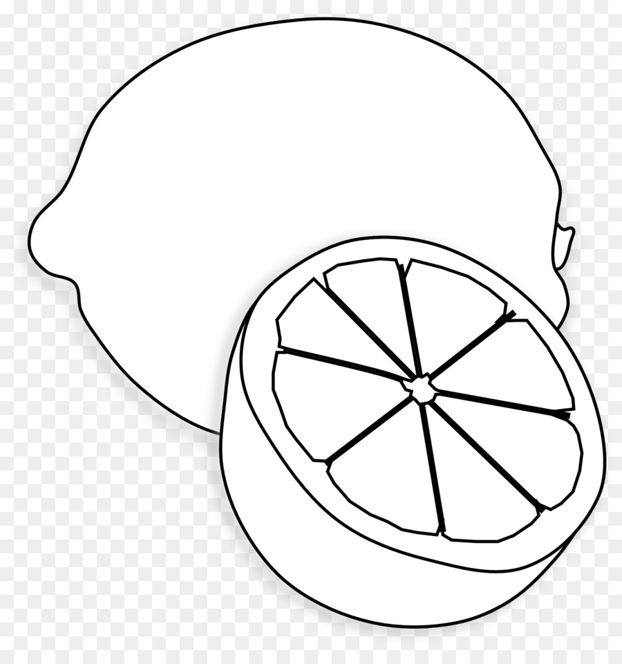 Free clipart lemon outline image black and white download Lemon Drawing png download - 1969*2067 - Free Transparent Lemon png ... image black and white download