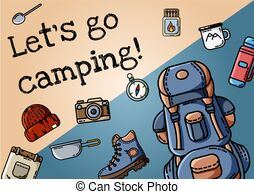 S camping poster vector. Free clipart let go of the search