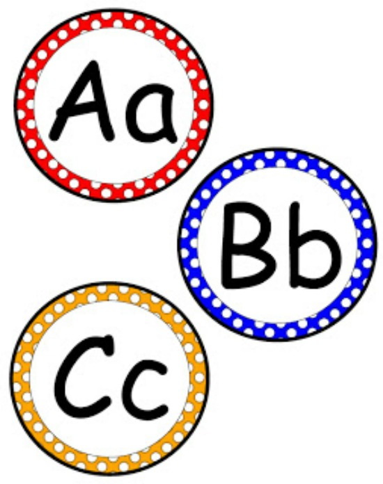 Free clipart letters to print