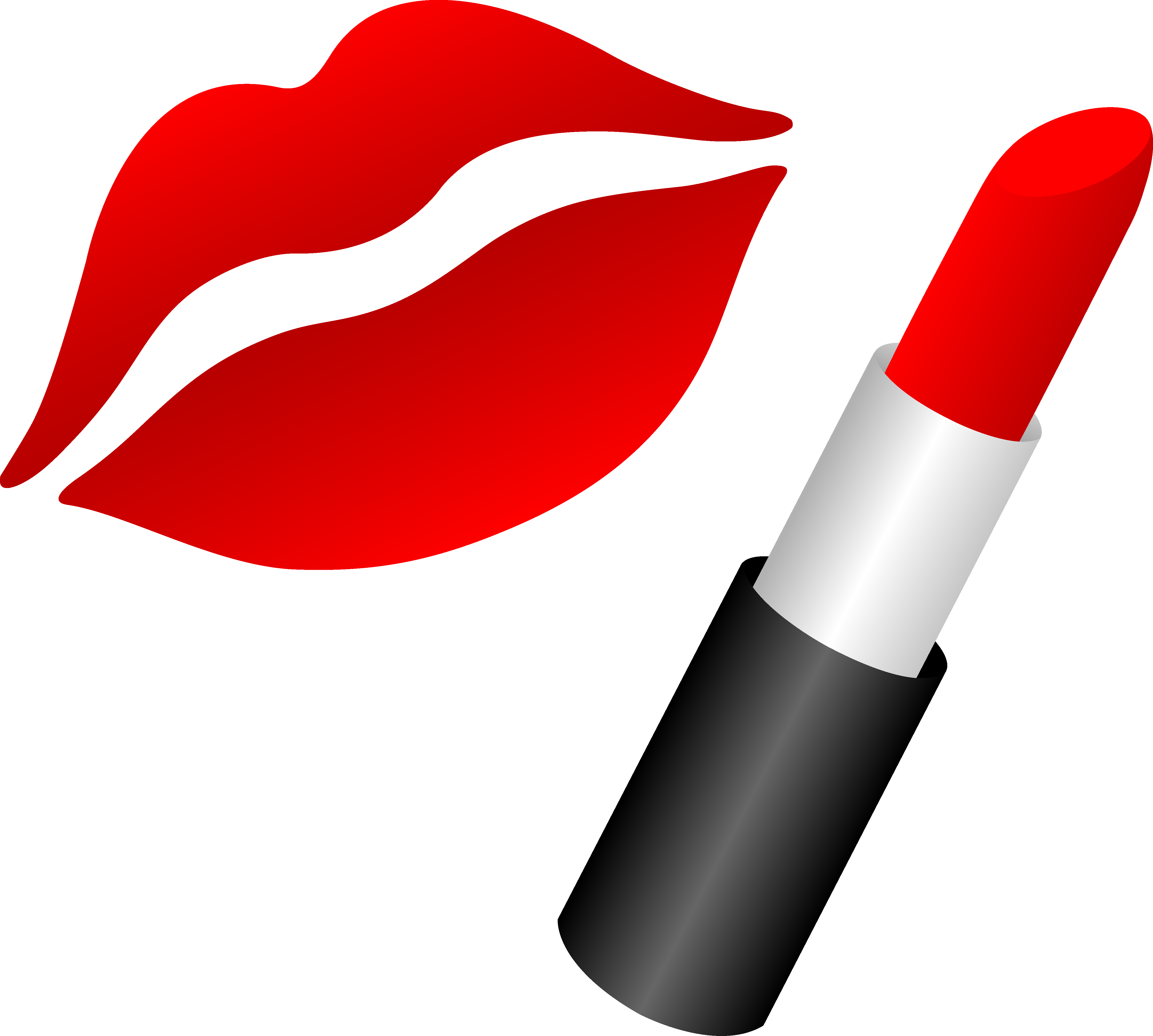 Putting on makeup in the car clipart picture black and white library Lips With Red Lipstick - Free Clip Art | Red Lips | Lip stencil ... picture black and white library