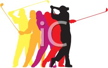 Free clipart logo creator image free download Golf Poses in a Logo Design for Sports - Royalty Free Clipart Image image free download