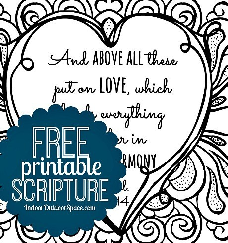 Free clipart love binds everything in perfect harmony bible verses clip black and white library Free Valentines Scripture Verse Printable Coloring Page | Indoor ... clip black and white library