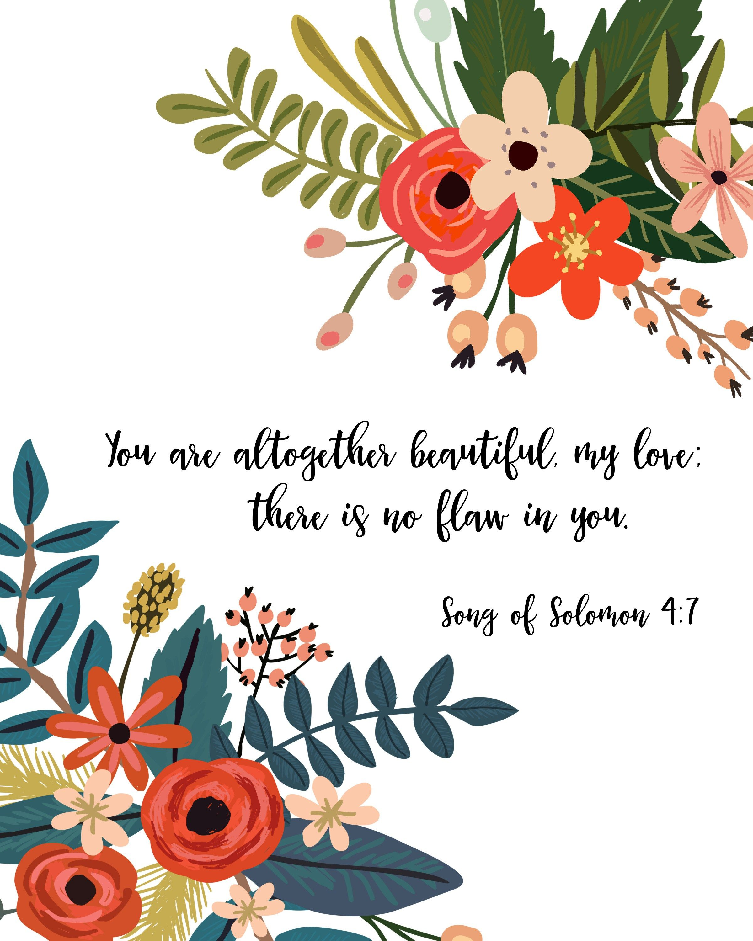 Free clipart love binds everything in perfect harmony bible verses clipart transparent Song of Solomon 4:7 - FREE print download! You are altogether ... clipart transparent
