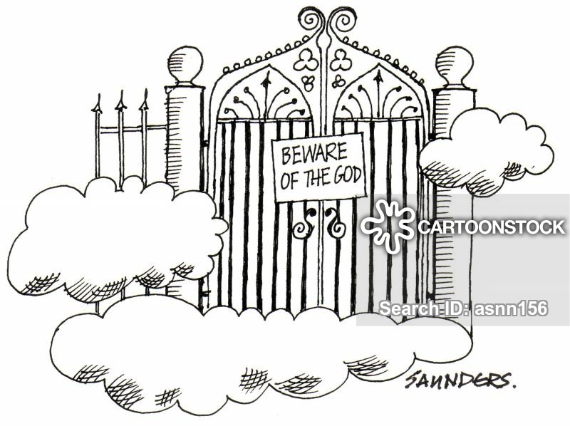 Free clipart mad dog at the pearly gates