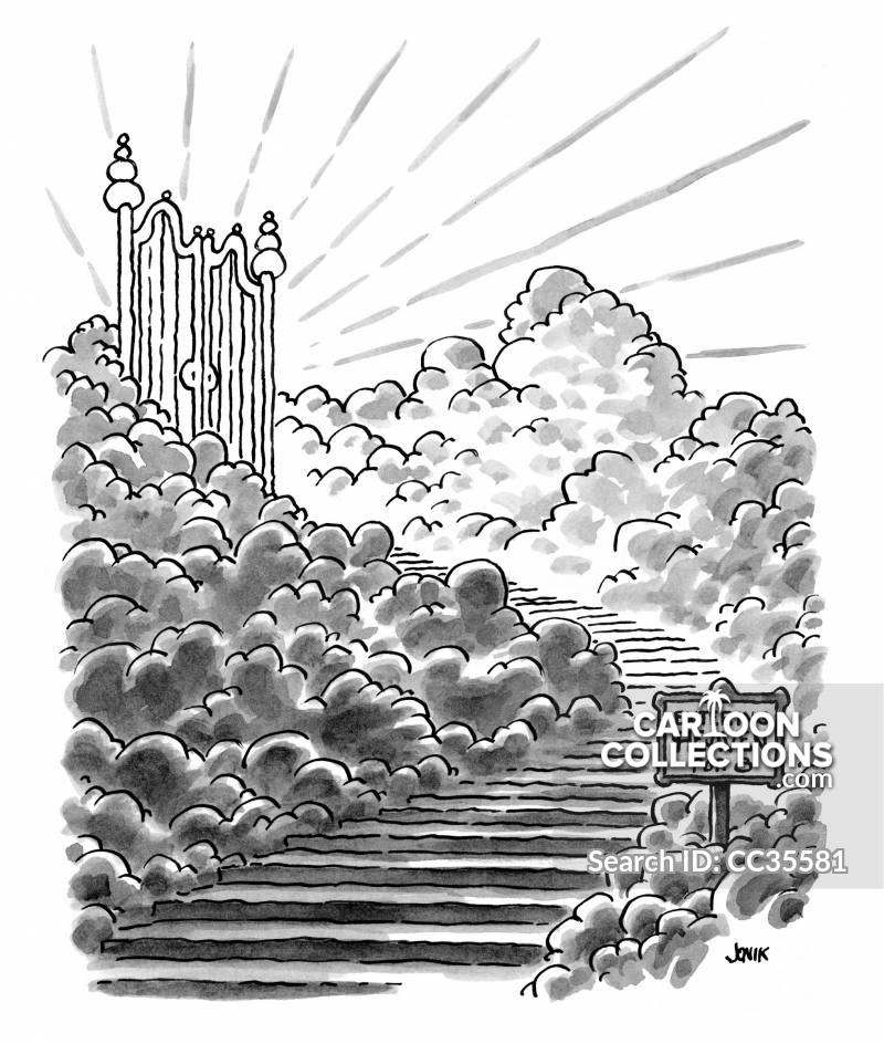 Free clipart st mad dog at the pearly gates image royalty free download Pearly Gate Cartoons and Comics - funny pictures from CartoonStock image royalty free download